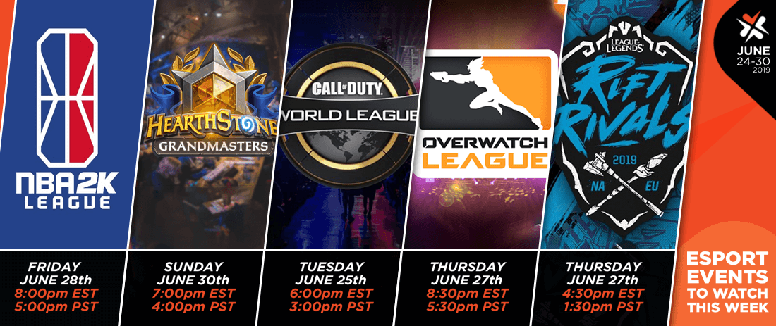 Esports Events to Watch This Week (June 24-30, 2019)