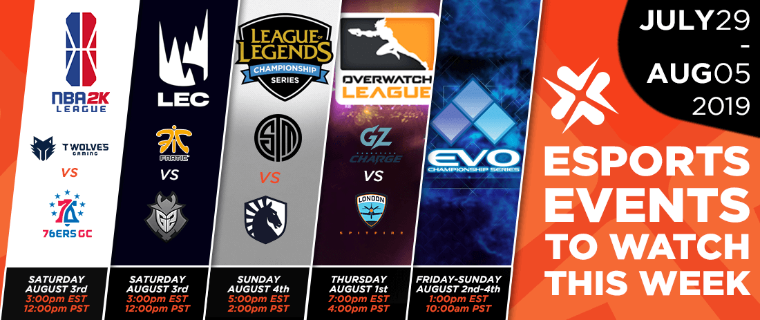 Esports Events to Watch This Week (July 29-Aug 4th, 2019)