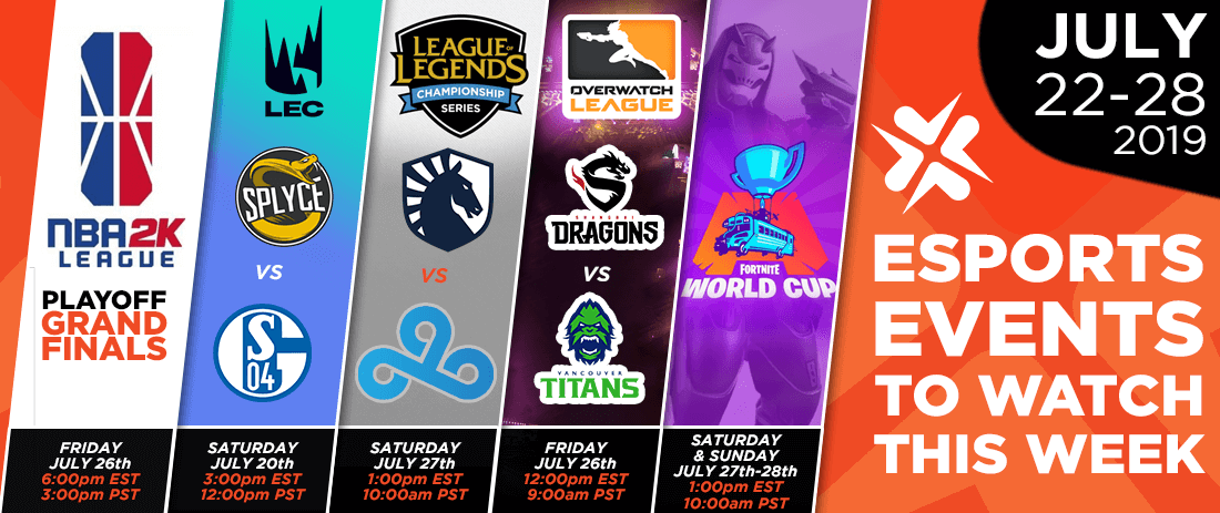 Esports Events to Watch This Week (July 22-28, 2019)