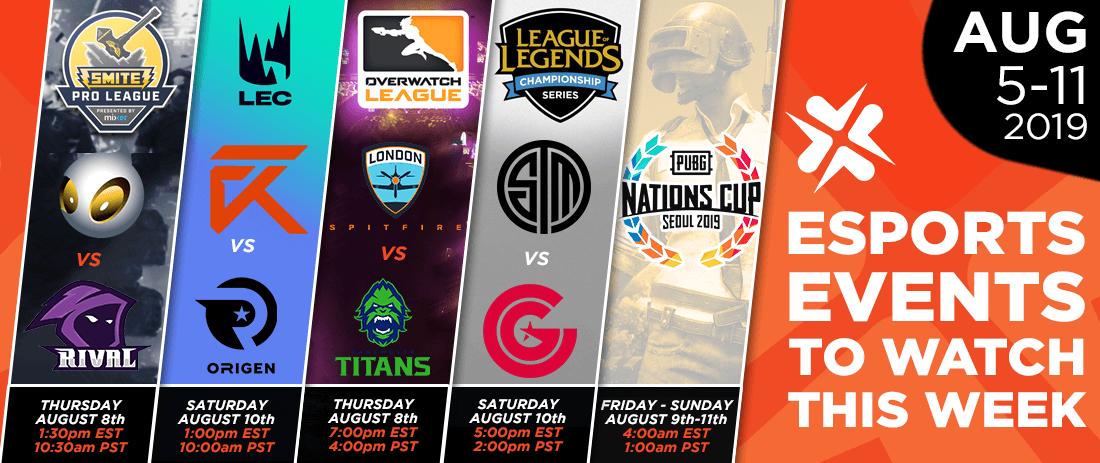 Esports Events to Watch This Week (August 5-11, 2019)