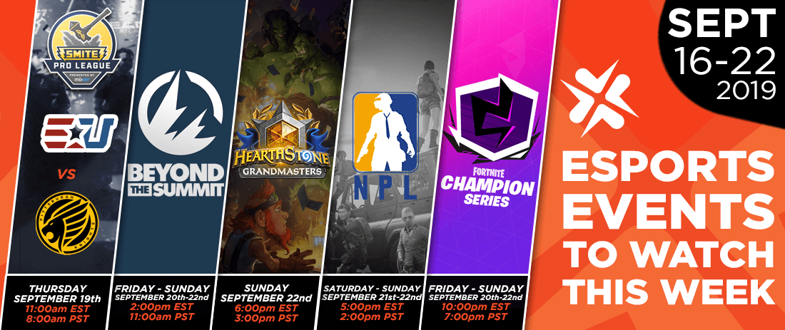 Esports Events to Watch This Week (Sept 16-22, 2019)