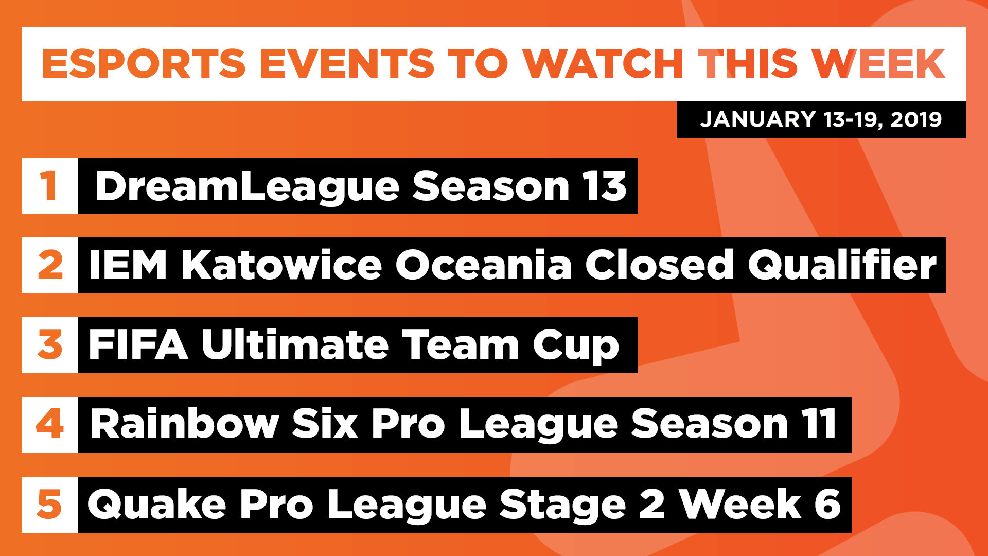 Esports Events to Watch This Week (Jan 13-19, 2020)