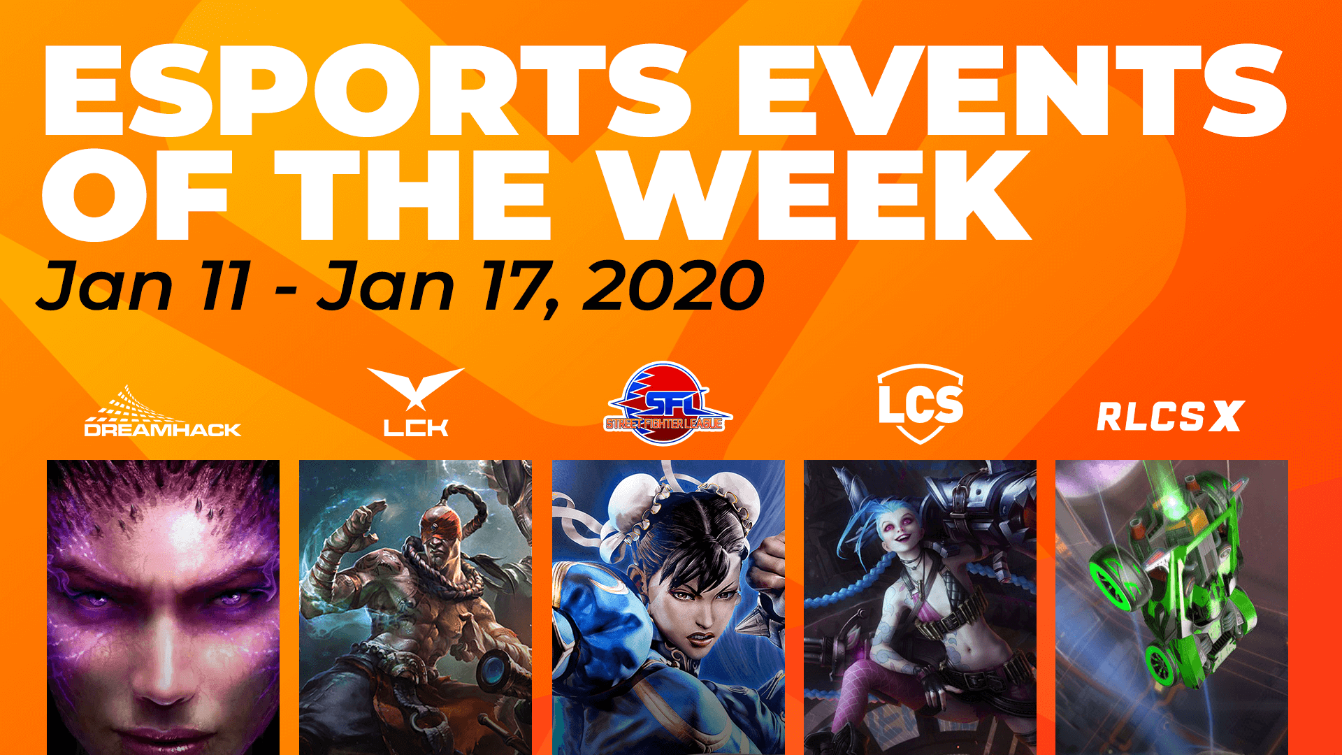Esports Events to Watch This Week (January 11 – 18)
