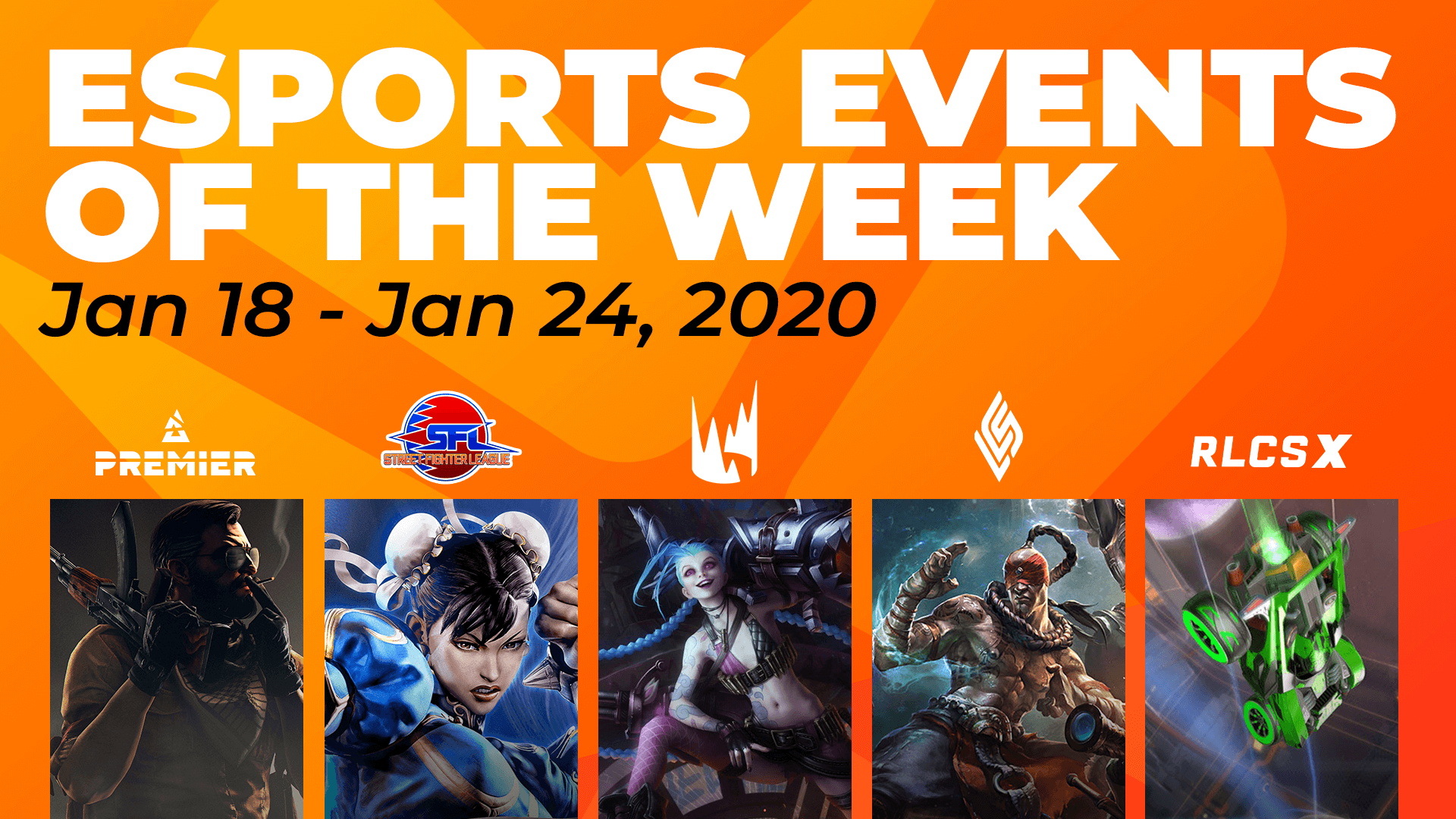 Esports Events to Watch This Week (January 18 – 24)